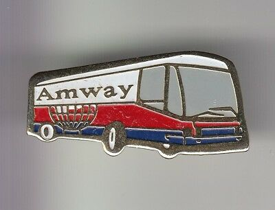 Rare Pins Pin's ..  Beaute Nature Sante Amway France Cosmetique Autocar Bus ~Dv