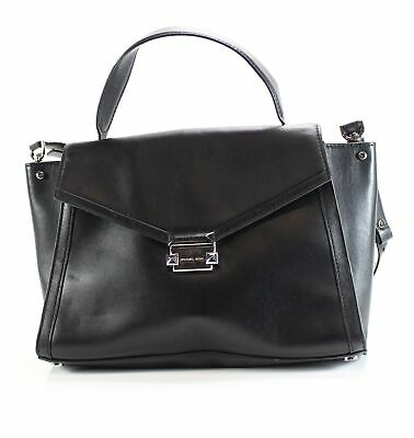 70624a0eacca Michael Kors NEW Black Silver Whitney Large Satchel Leather Handbag  348-   048