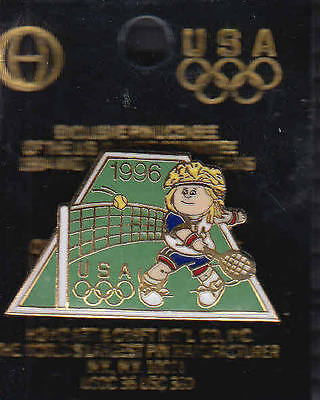 Rare Pins Pin's .. Olympique Olympic Jeux Atlanta 1996 Tennis Homme Usa Team ~16