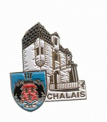 Rare Pins Pin's .. Tourisme Chateau Castle Blason Arm Chalais 16 ~A6