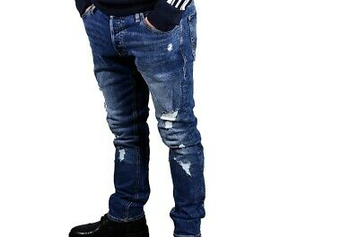 ABBIGLIAMENTO Jack And Jones JJIGLENN JJORIGINAL AM 739 CAMP Pantaloni Nuove BLU