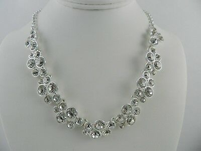 Charter Club Silver-Tone   Crystal All-Around Collar Necklace