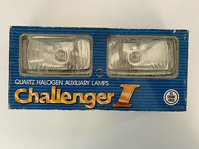 NOS Vtg Challenger I Quartz Halogen Clear Driving Lights Chieftain 4-2000-2WS