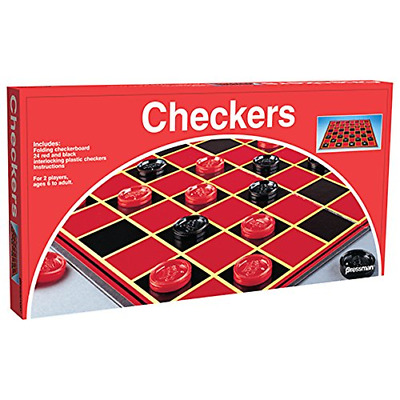 Checkers Board Family Fun Vintage Strategic Game Gift One Size Checkerboard New