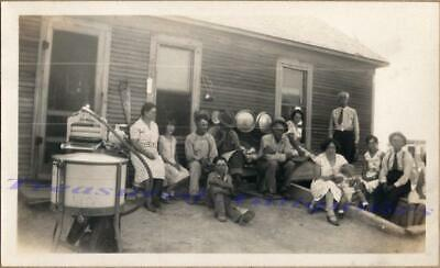 1920s Family Dairy Farm House Norton Gas Engine Powered Washing Machine Photo