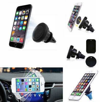 Universal Car Magnetic Phone Holder 360° Rotation Air Vent Mount Mobile Tablet