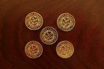 5 x 2 Dollar Mr Squiggle Coins 2019 Week 1 Coins! Limited Edition