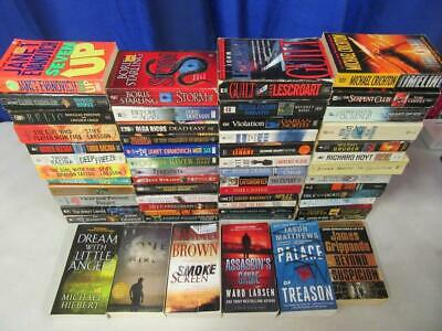 HUGE Lot of (57) THRILLER SUSPENSE MYSTERY Books CLIVE CUSSLER DAVID BALDACCI