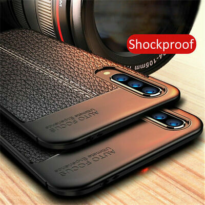 For Samsung Galaxy A70 A50 A30 Silicone Rubber TPU Leather Slim Back Cover Case