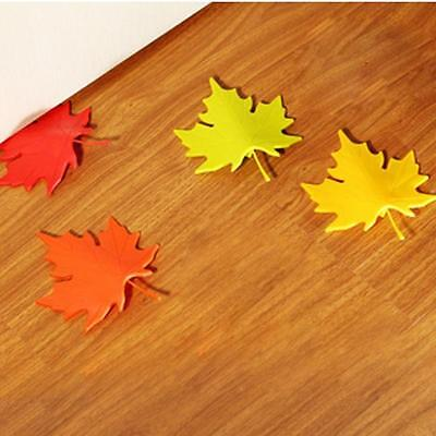 Multi-Color Autumn Maple Leaf Home Ornament Door Stop Stopper Doorstop Decor YG