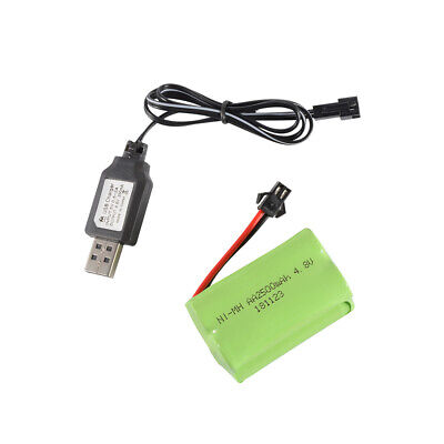 4.8V 2500mAh NI-MH Rechargeable Battery Spare Pack SM Plug+USB Charger BC788