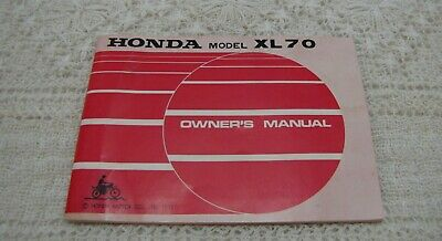 1973 honda motorcycle model xl 70 owners manual with original wiring diagram