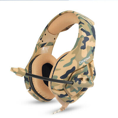 ONIKUMA K1 Mic Stereo Bass Surround Gaming Headset for PC Laptop PS4 Xbox One AU