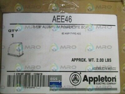 "Appleton Aee46 Mounting Box 1-1/4"" * New In Box *"
