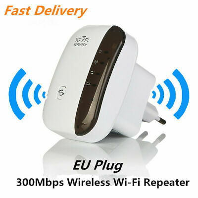 EU Plug 300Mbps WiFi Repeater Wireless Router Range Extender Signal Booster WPS