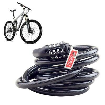 Bike Bicycle Lock 4 Digit Combination Code Steel Cable Safety Password Cycling