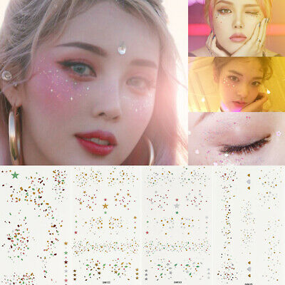 75af89e267648 Beauty Makeup Gold Face Tattoo Stickers Freckles Art Festival Party New