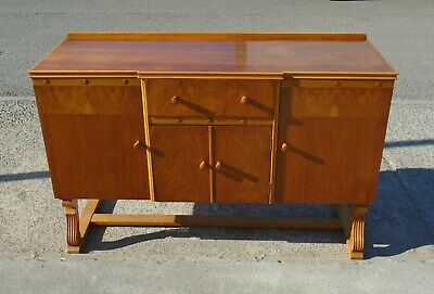 Art Deco Walnut Veneered Sideboard      Delivery Available