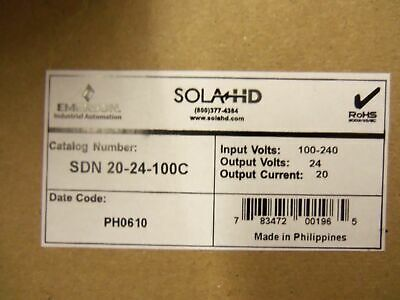 Sola Power Supply Sdn 20-24-1000 *New In Box*