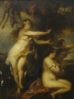 17th Century Dutch Old Master Huntress Diana & Hunting Party Peter Paul RUBENS