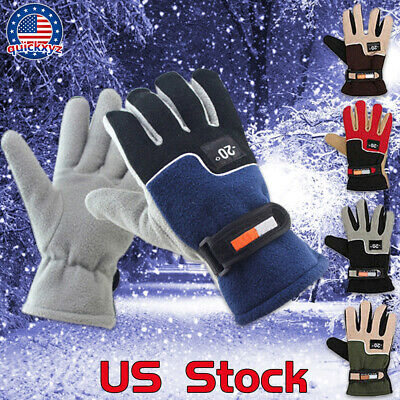 Full Finger Gloves Waterproof Warm Soft Motorcycle Sports Off Road Winter US