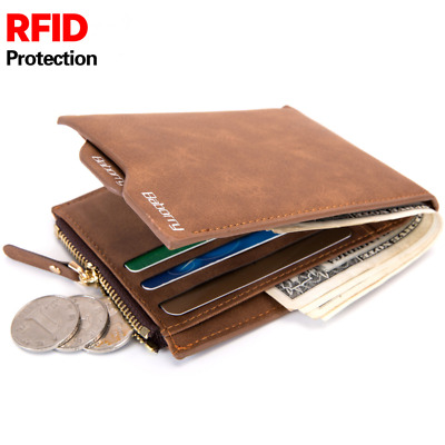 f8007803801c RFID BLOCKING THEFT Protect Men Wallet Money Bag Card Holder Purses ...