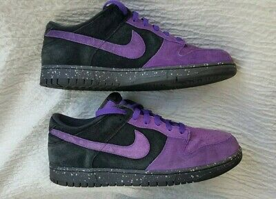 super popular 69a71 090ba NIKE DUNK LOW Varsity Purple Black Suede Style 304714-551 Mens Size ...