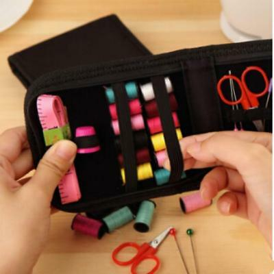 Portable Outdoor Travel Home Sewing Kit Measure Scissor Thread Set With Case KS