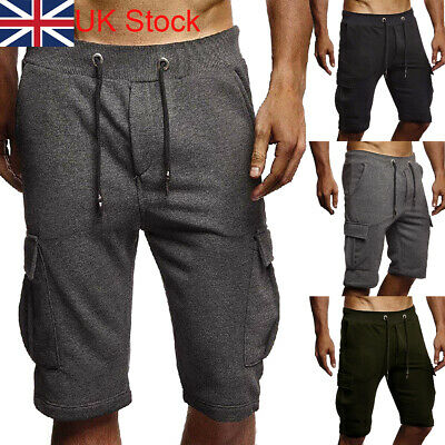 Mens Chino Shorts Casual Cotton Cargo Combat Half Pant Summer Jeans Trousers UK