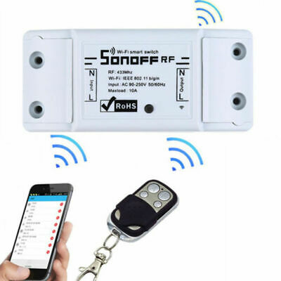 SONOFF RF 433MHz Senza Fili INTERRUTTORE SMART Switch Compatible Alexa PRESA