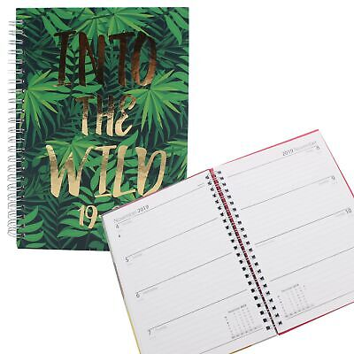 3095 Academic 2019 2020 Hardback Week To View Student A5 Diary - INTO THE WILD