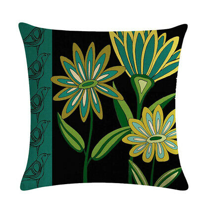 Vintage Abstract Floral Pattern Pillow Case Cushion Cover Home Sofa Decor Z