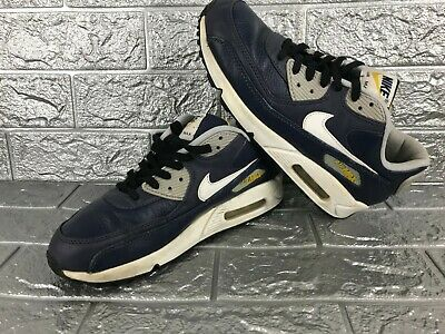NIKE AIR MAX 90 Leather 652980 400 Shoes Men's Size US 8 UK