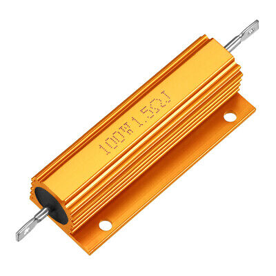 2pcs Aluminum Case Resistor 100W 0.1-10 Ohm Wirewound for LED Replace Converter