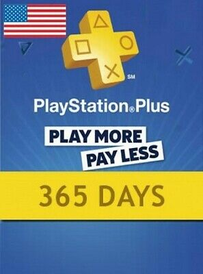 1 Year / 12 Month Sony PlayStation Plus- PSN 365 days Subscription for PS3/4 US