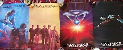 "Set of 4 1984 Star Trek III The Search For Spock Movie Posters 16"" x 23"""