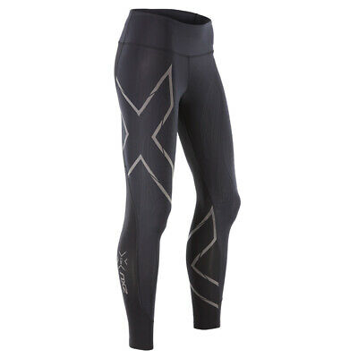 181bfd3dada89 New 2XU Women MCS Run Comp Tight w. Back Zip Pocket Muscle Stamping for  Running