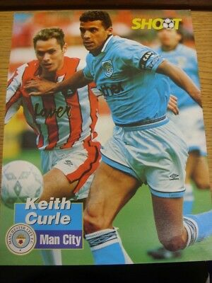 1993/1994 Autographed Magazine Picture: Manchester City - Curle, Keith. If this
