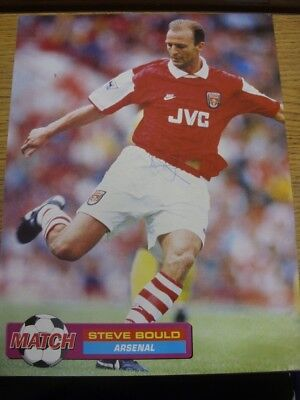 1994/1995 Autographed Magazine Picture: Arsenal - Bould, Steve. If this item has
