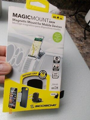 Home or Office Space Gray Scosche MEDSG-XTET Magicmount Elite Universal Magnetic Smartphone//GPS Mount for The Car