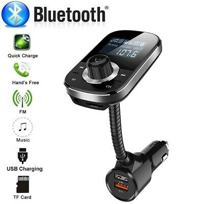 HY90 Wireless In-Car Bluetooth FM Transmitter Dual USB Charger AUX Input TF Card