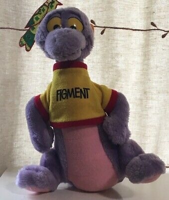 Vintage Disneyland Disney World Figment Plush Stuffed Dragon Toy 10""