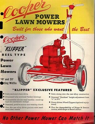 "Vintage 1961 ""COOPER KLIPPER Powered REEL Type"" JOBBER SELL SHEET & Pricing"