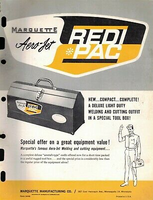 "Vintage Collectible 1960's ""MARQUETTE"" ""AERO-JET REDI * PAC"" Jobbers SELL SHEET"