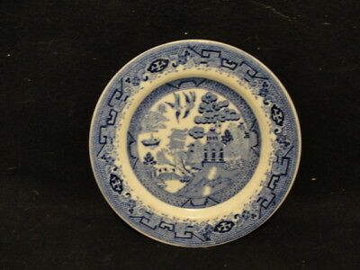 "7 1/4"" Plate Walker China Blue Willow pattern 1933"