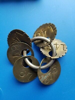 Vintage Steampunk  Brass Number  Locker  Tags