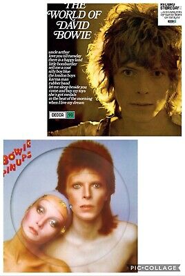 "David Bowie ""The World Of Bowie & Pinups Picture Disc' RSD 2019 Vinyl Lp's"