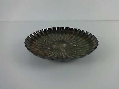 Vintage Silver Plated Bowl Fluted Dome Centre Fruit Display Elkington & CO 1950s