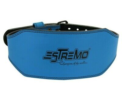 """Weight Lifting Belts-Genuine Leather Padded 6"""" Wide Back Support for Men & Women"""