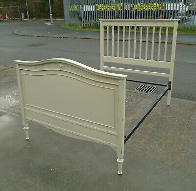 Shabby Chic Victorian Double Bed Frame In Old White    Delivery Available